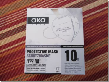 Additional - FFP2 Protective Mask EN149:2001+A1:2009 CE 2841, box with 10 masks